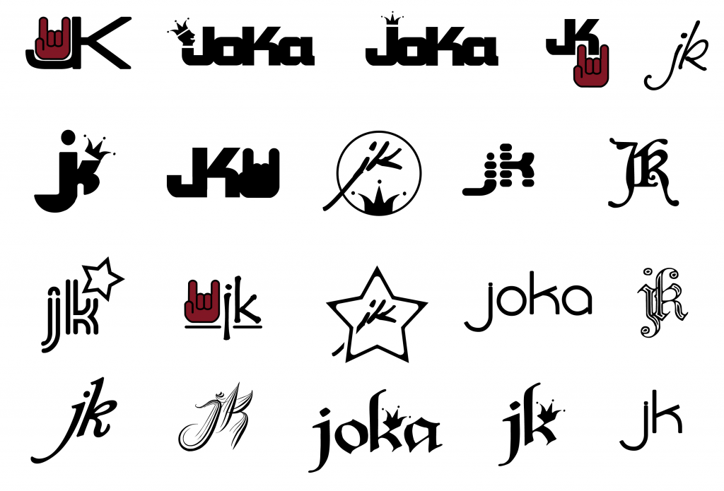 Logo Ideen für Gitarren Label JoKa