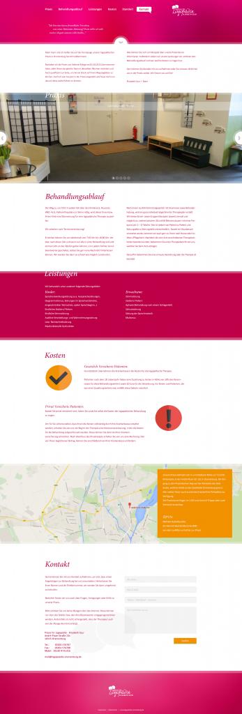 Webdesign für Logopädie Oranienburg