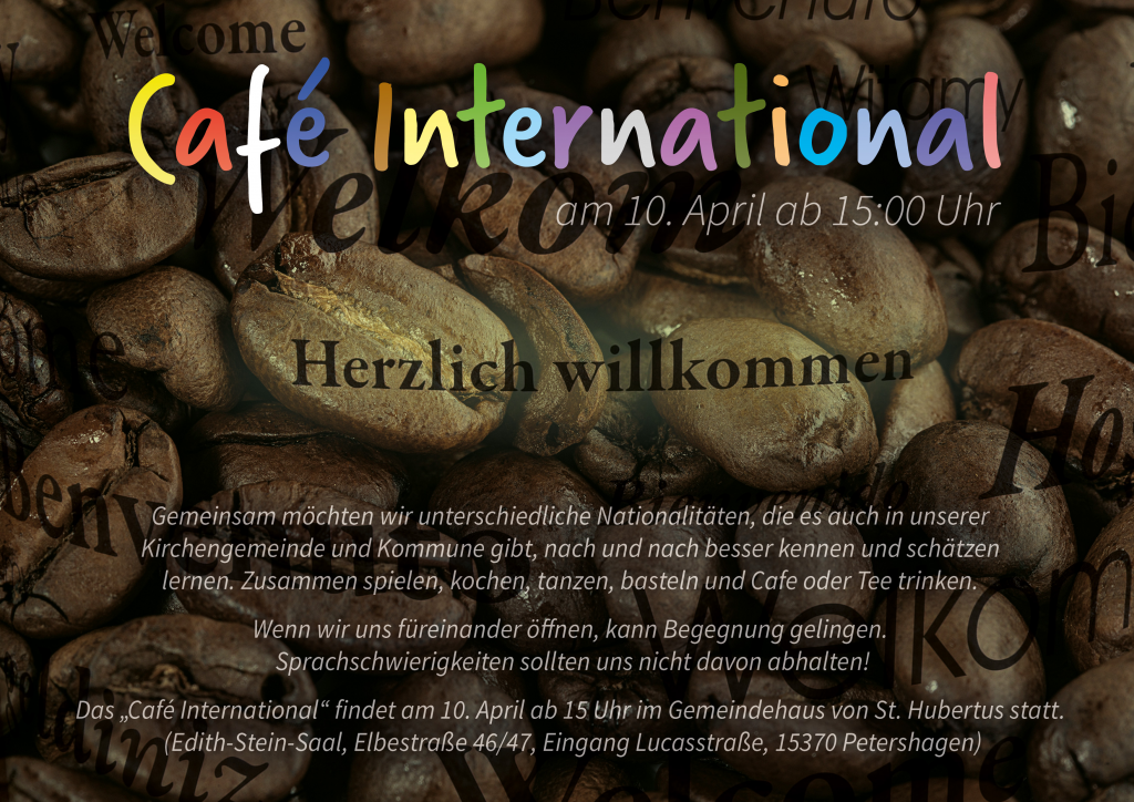 Cafe International Einladung