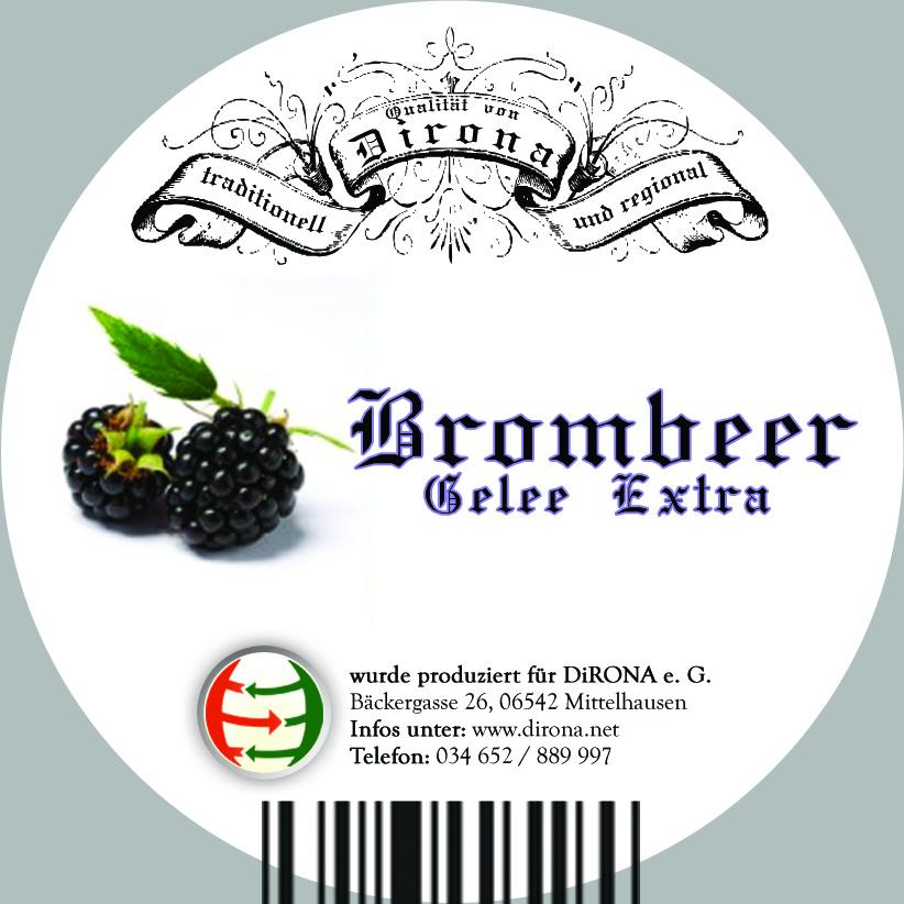 Etikett für Gelee von Dirona