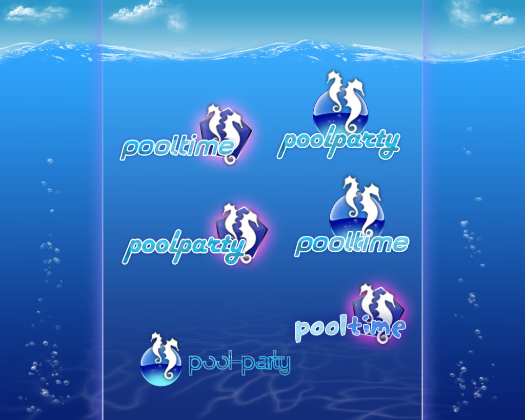 Logo Ideen für poolparty