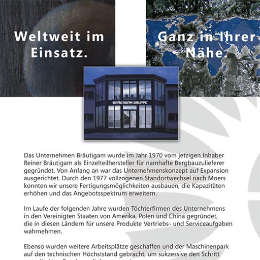 Image-Broschüre für Bräutigam Gruppe